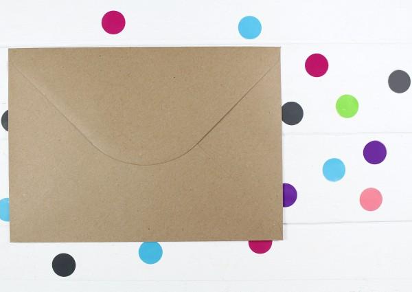 20 Briefumschläge Naturpapier Din C5
