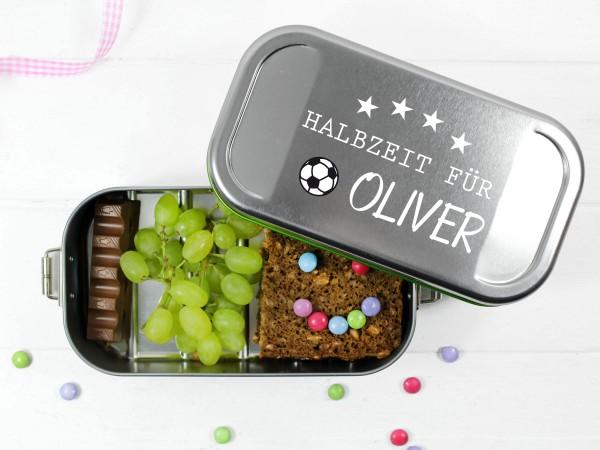 Brotdose für Fussballfans Halbzeit