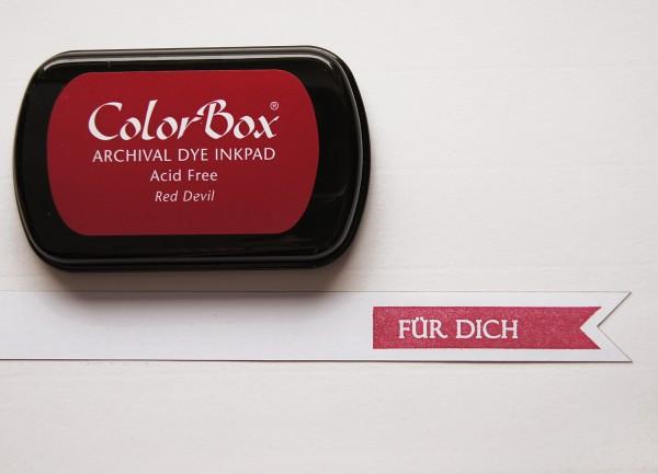 Tusche Stempelkissen Rot / Red Devil