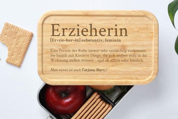 Brotdose für Erzieherin Definition Geschenk Lunchbox