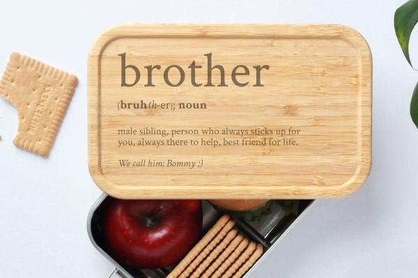 Brotdose für Bruder brother Definition Geschenk Lunchbox
