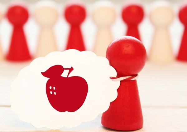 Kleiner Stempel mit Motiv: Apfel