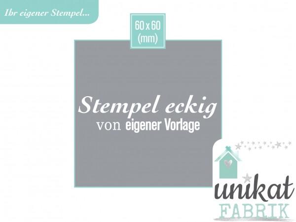 Eigener Stempel im Format 60 x 60 mm Hochzeitslogo Zeichnung