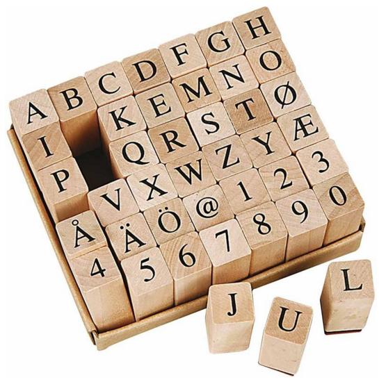 ABC Stempelset Holzstempel Serifen