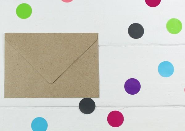 20 Briefumschläge Naturpapier Din C7