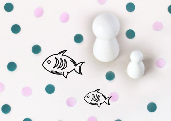Kleiner Stempel mit Motiv: Fisch