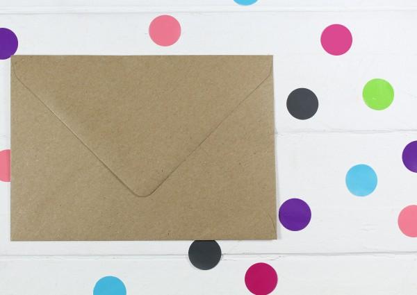 20 Briefumschläge Naturpapier DinC6