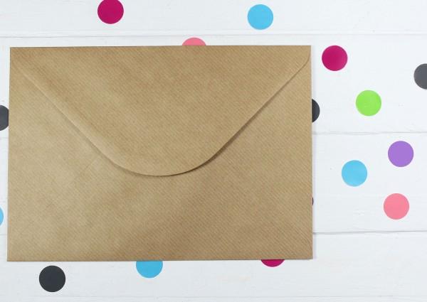 20 Briefumschläge Naturpapier gerippt Din C5