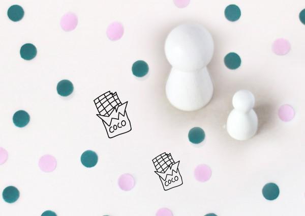 Kleiner Stempel mit Motiv: Schokolade