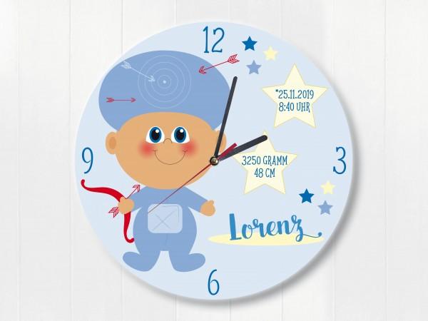 Wanduhr Geburtsdaten Geschenk Schütze Sternzeichen für Jungen