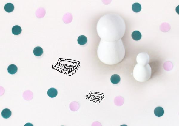 Kleiner Stempel mit Motiv: Eier