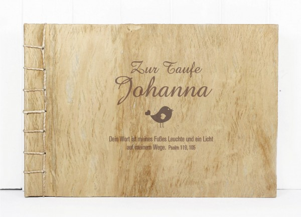 Gästebuch Holz L - Zur Taufe