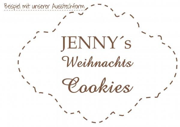 personalisierter Keksstempel - Weihnachts Cookies