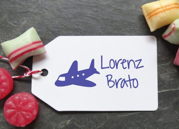 Stempel Flugzeug für Kinder