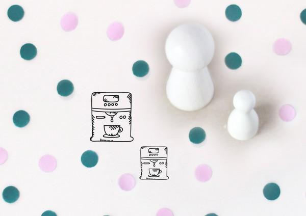 Kleiner Stempel mit Motiv: Kaffeemaschine