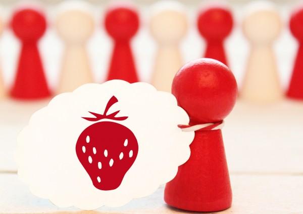 """Motivstempel """"Erdbeere Ministempel"""
